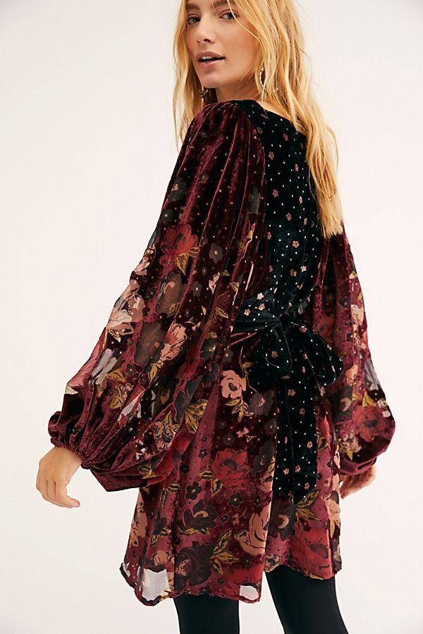 1c49650c99 Last Letter Burnout Velvet Mini Dress - Velvet Floral Burnout Mini Dress -  Red Velvet Long Sleeve Mini Dress - Velvet Mini Dresses - Red Velvet Dresses  ...