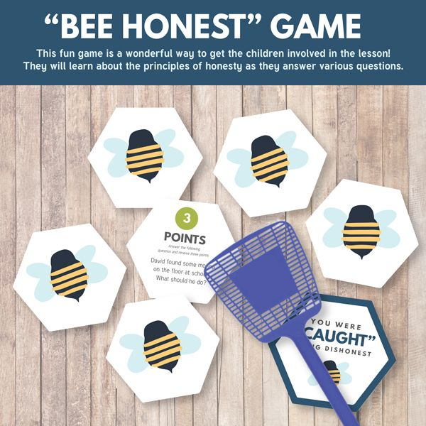 """Bee Honest"" Primary Game - Primary Sharing Time 2017: Honesty is Telling the Truth Regardless of the Consequences (July Week 4) - The Red Headed Hostess"