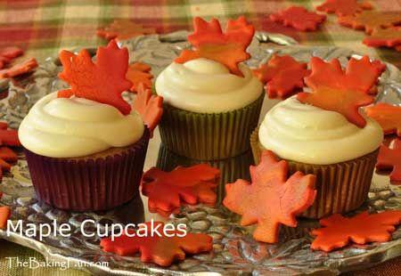 Cupcakes à l'érable (pour la fête du Canada) /  Maple Cupcakes (for Canada Day)
