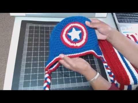 11-18-14: Captain America Crochet Set - YouTube