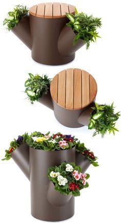 PAISAGISMO LEGAL: Vaso, banco & tronco
