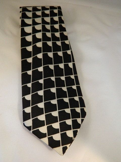 Vintage Tie / Black Tie and Gray Tie / Mr Tie by Nat Robin Co of Kansas City by VintageBaublesnBits on Etsy