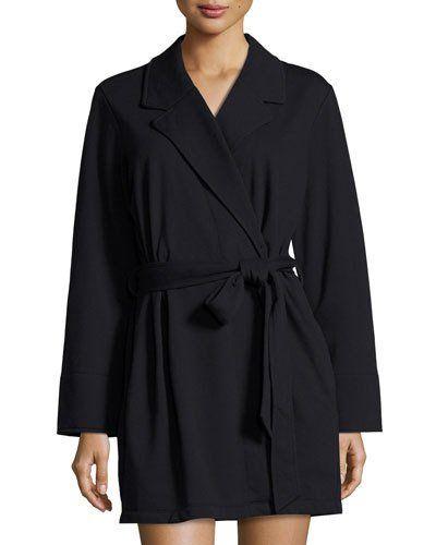I0V0A kate spade new york good morning gorgeous short robe, black