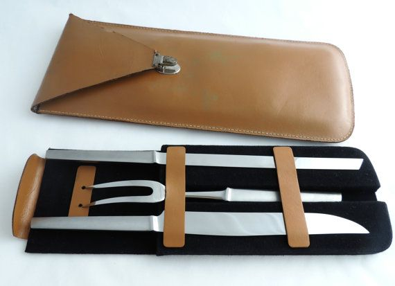 AUSTRIA Swordmakers Stainless Steel Knife Set ~ Mid Century Modern ~ https://www.etsy.com/listing/127794331/stainless-steel-knife-set-mid-century