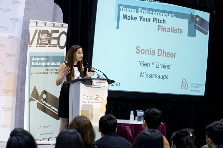 Sonia Dheer pitching Gen Y Brains