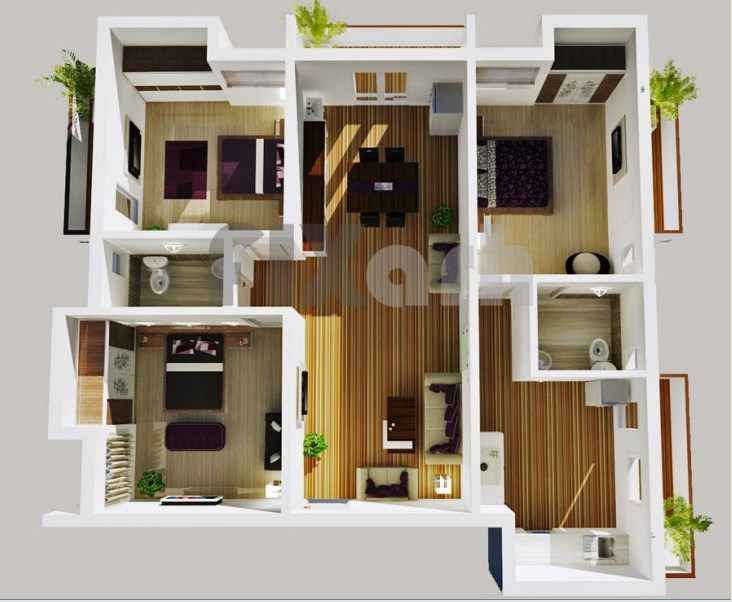 desain rumah minimalis 3 kamar tidur modern & 104 best Denah Rumah Minimalis images on Pinterest | House floor ...