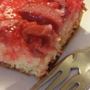 Easy Rhubarb Upside-Down Cake