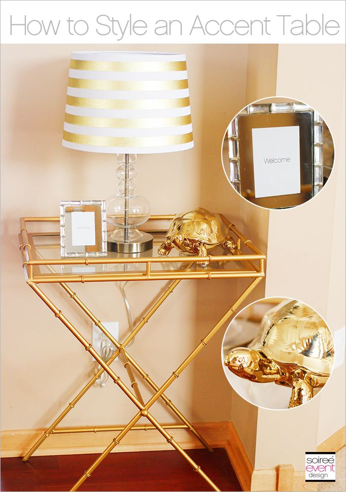 The Gold Trend:  How to Style a Gold Accent Table #TargetStyle #ad