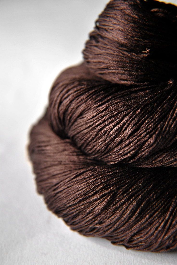 Color Chocolate - Chocolate!!! Ground cacao beans - Silk Yarn Lace