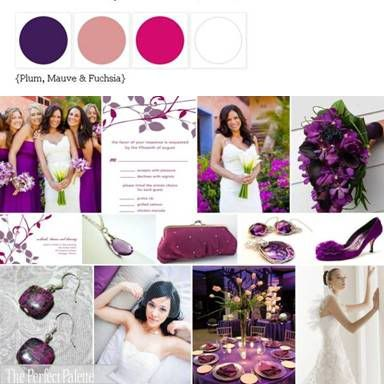 The Perfect Palette: {Wedding Colors I Love}: Shades of Pink + Purple