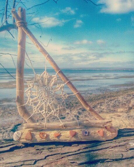 Кораблик. Дрифтвударт. Вязание крючком. Древние черепки. Driftwoodart.