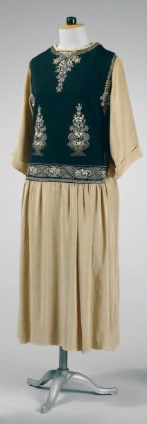 Paul Poiret, circa 1922   Model AQUITAINE Afternoon Dress, from the collection of Denise Poiret