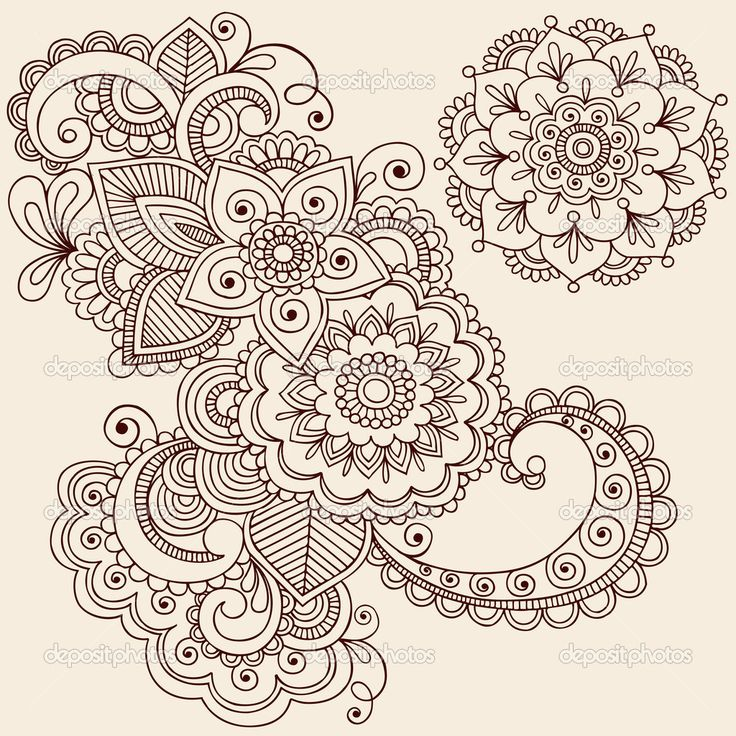 Henna Mehndi Tattoo Doodles Vector Design Elements | Stock Vector © blue67 #8693168