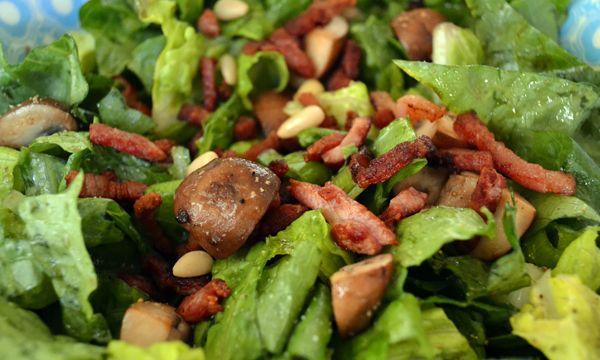 salade met kastanjechampignons