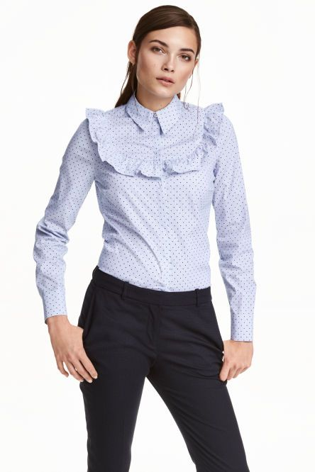 Blouse with a frill