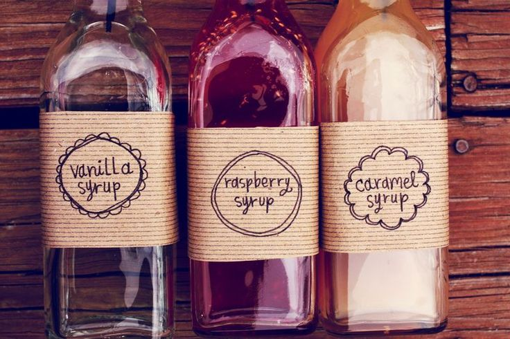 Handmade Christmas Gifts- home made coffee syrups