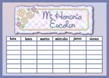 HORARIOS ESCOLARES - Papelería de Morella Jiménez