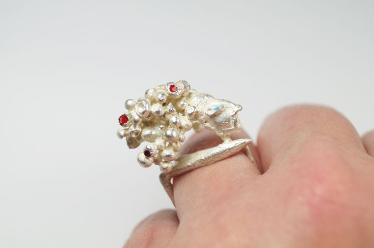 Indian chief, Handmade silver 925 ring for women, Inspired by micro-sculpture,  handmade by Agori Fotopoulou