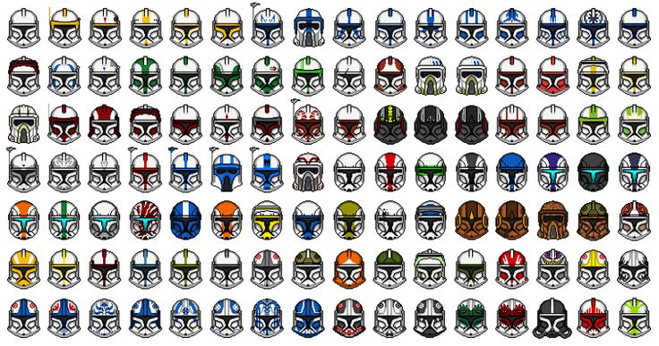 Star Wars The Clone Wars:Clone Helmets