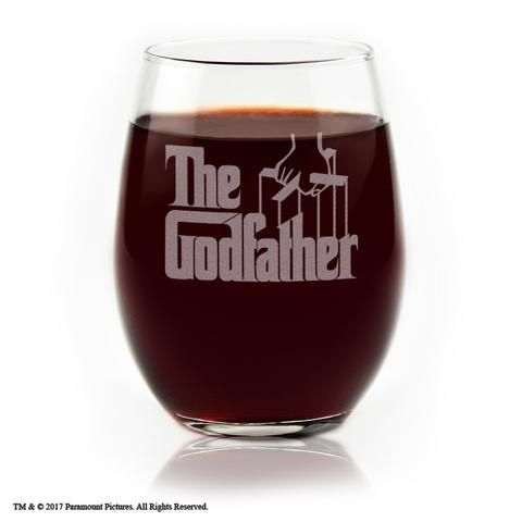 The Godfather Movie Engraved Logo Stemless Wine Glass