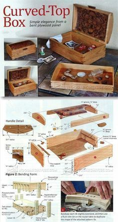 Curved Top Box Plans - Woodworking Plans and Projects   WoodArchivist.com