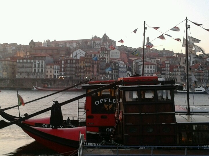 Douro river. The Porto Wine boats from the caves.
