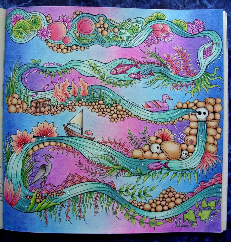 Colouring Techniques Joanna Basford Coloring Books Tips Book Art River Colored Pencil Tutorial Enchanted Pencils