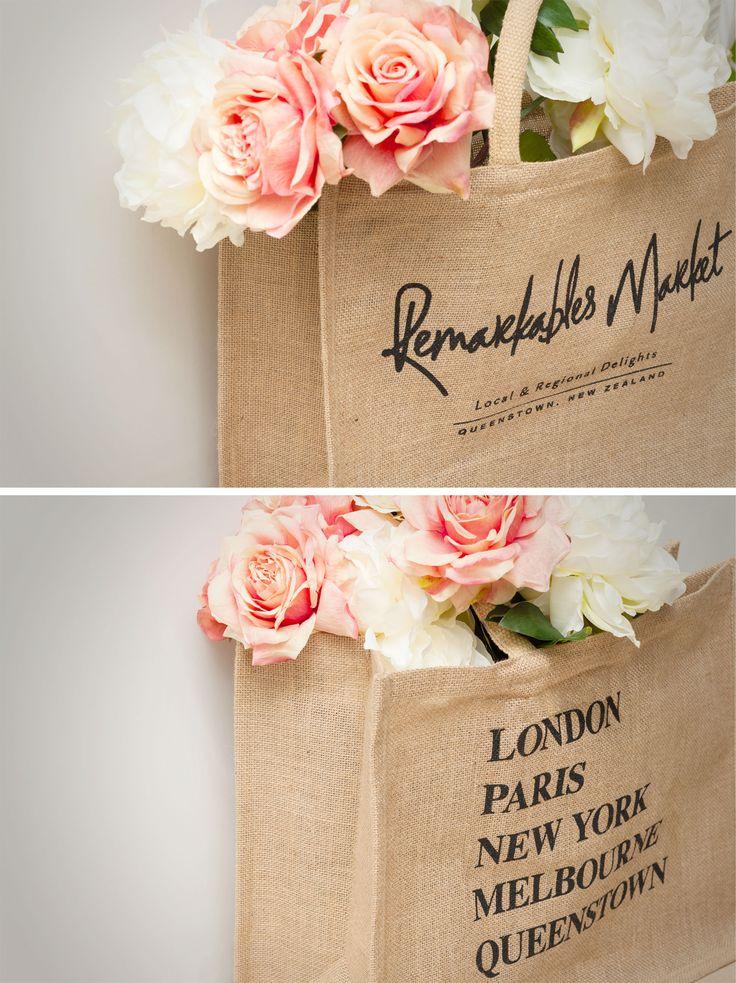 Remarkables Market bag design made with natural fibres