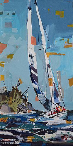 Rick Bond, 'Blue Skies', 12'' x 24'' | Galerie d'art - Au P'tit Bonheur - Art Gallery