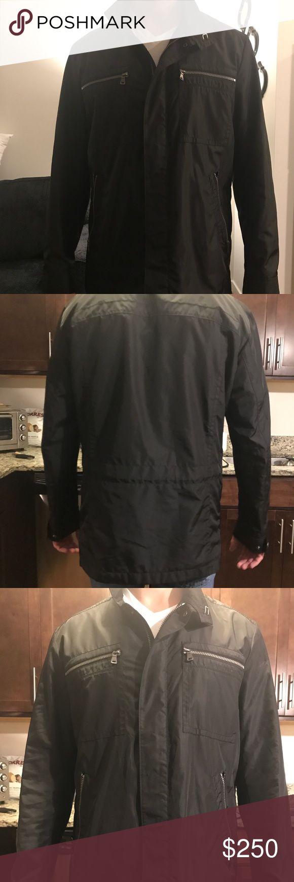 Men's Hugo Boss Black Raincoat Men's Hugo Boss Black Raincoat. Size large. New without tags, two inside zipper pockets Hugo Boss Jackets & Coats Windbreakers