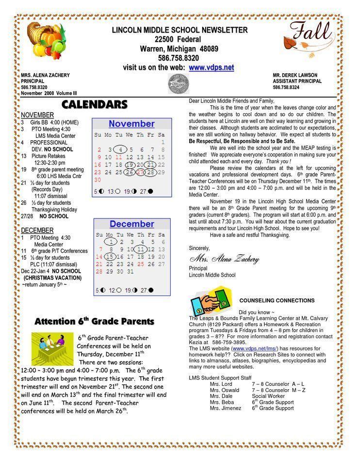 Best 25 School newsletters ideas