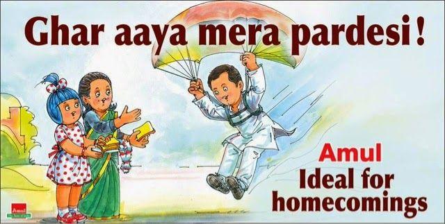 Rahul Gandhi returns, Amul's depiction