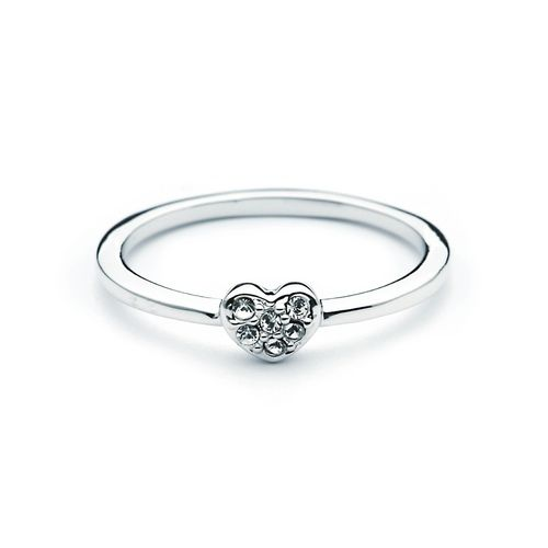 Essentials Petite Pave Heart Ring with Swarovski® Crystals