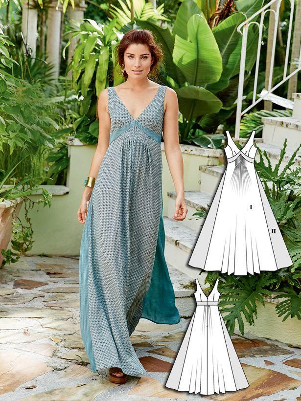 Boho Maxi Dress 04/2016 #101B http://www.burdastyle.com/pattern_store/patterns/boho-maxi-dress-042016?utm_source=burdastyle.com&utm_medium=referral&utm_campaign=bs-tta-bl-160314-BohoSpirit101B
