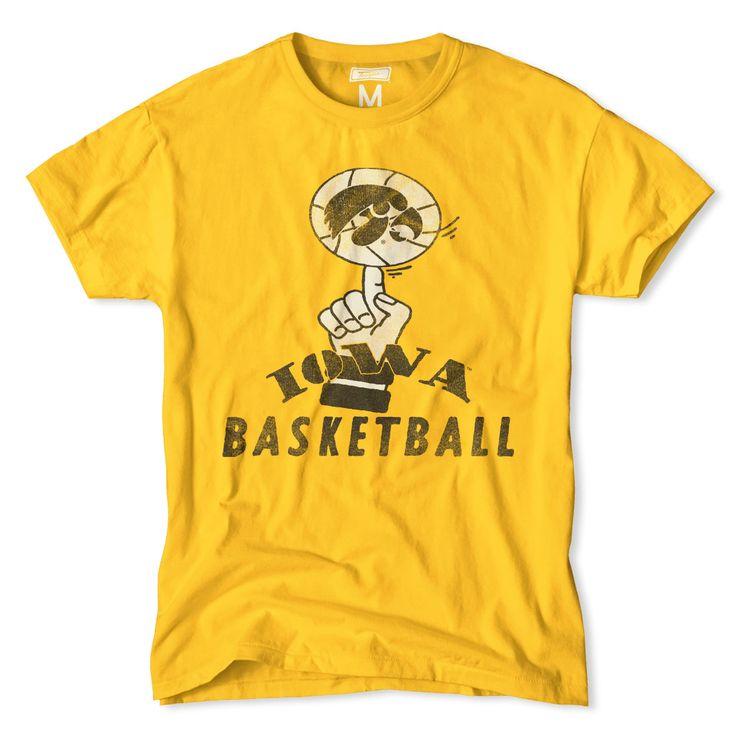 Iowa Basketball Vintage Basketball T-Shirt