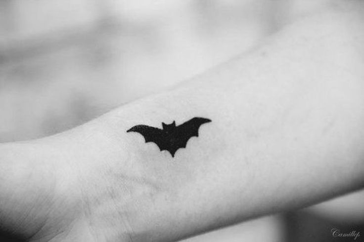 simple bat tattoos - Google Search