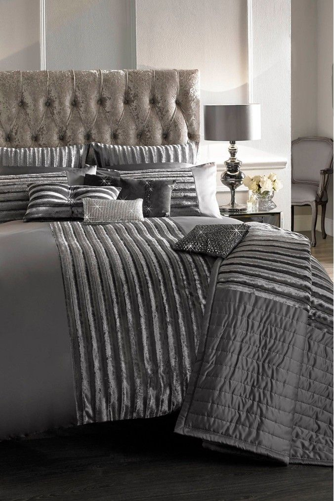 Kylie Exclusive To Next Faux Fur Panel Lucette Duvet Cover Silver In 2020 Duvet Covers Duvet Home Decor