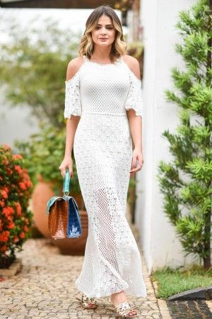 Vestido Tricot Madrepérola Branco