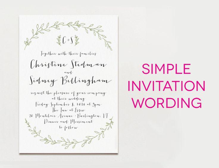 Modern Wedding Invitation Wording: 17 Best Ideas About Modern Wedding Invitation Wording On