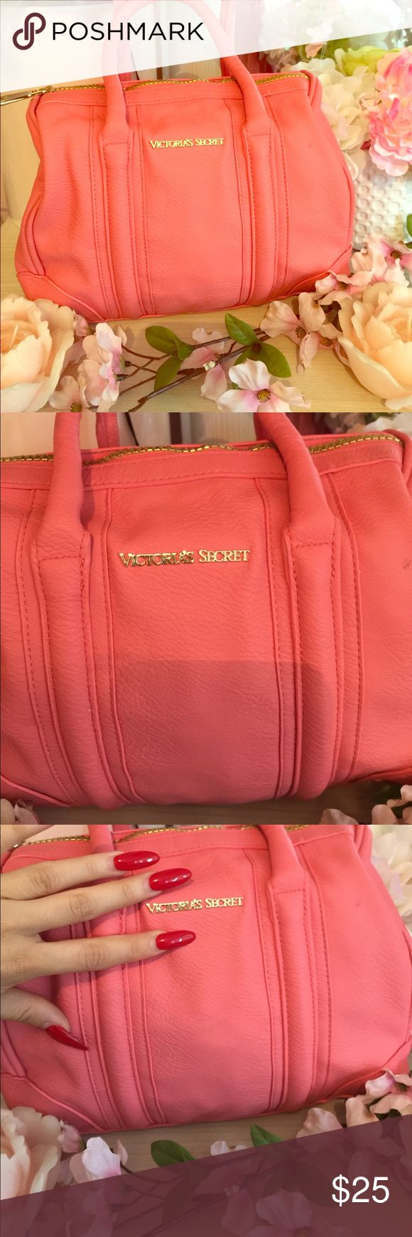 Victoria secret handbag Victoria secret small hand bag, in a coral color perfect condition. Victoria's Secret Bags Satchels