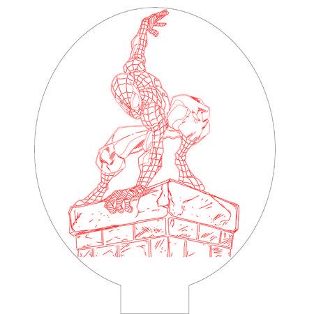 Spiderman 1 3d illusion vector file for CNC - 3bee-studio