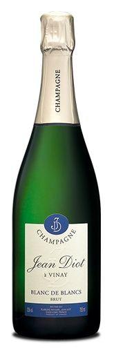 www.wijnkraam.nl - Blanc de Blancs Brut. Zuivere elegante champagne met fijne bubbels en aroma's van wit fruit, citrusvruchten en een vleugje bloemen. In de mond fris en soepel met een geweldige afdronk.