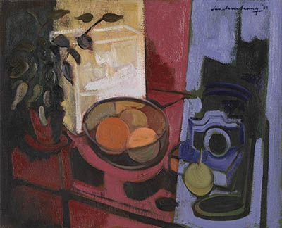 Artist : IAN ARMSTRONG Still Life with Camera, $1,500 - 2,000