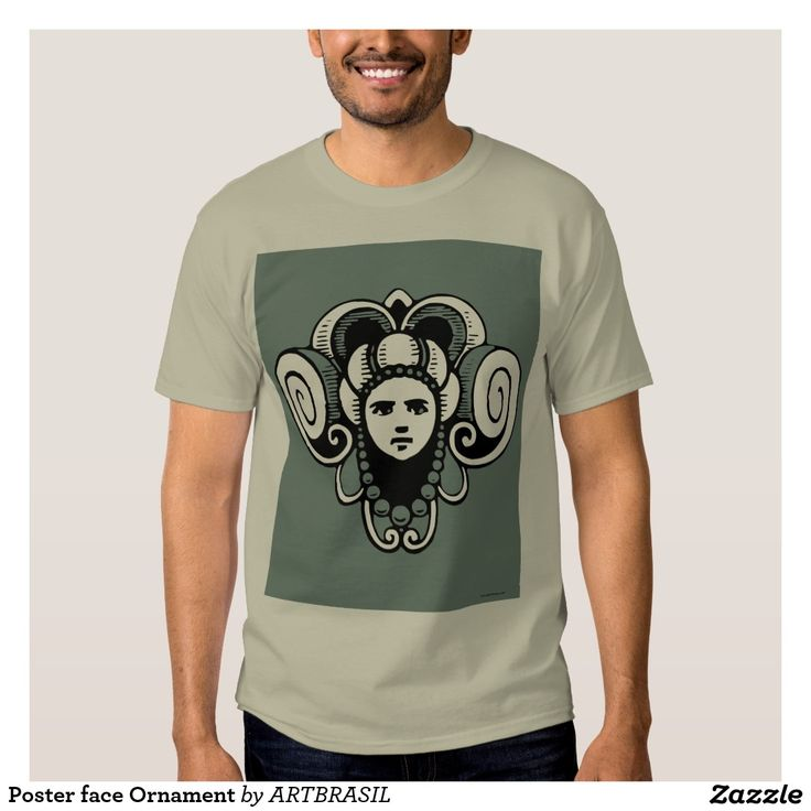 Poster face Ornament Tee Shirt ancient vintage