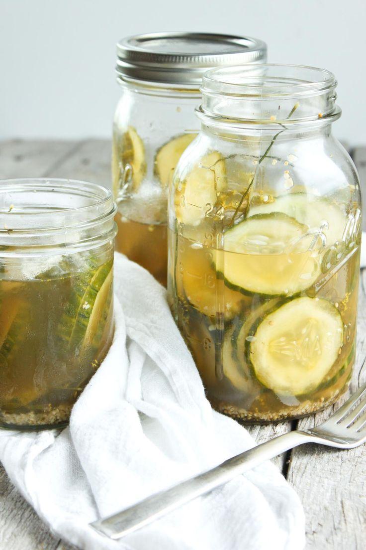 How To Make Homemade Refrigerator Pickles Overnight ...