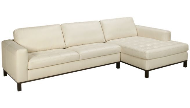 natuzzi editions tufted seat 2 piece leather sectional With sectional sofas jordans