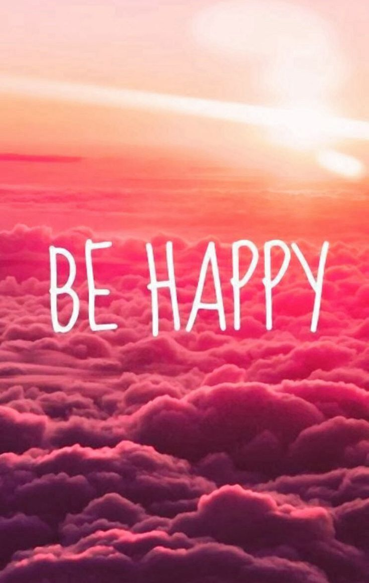 BE HAPPY ... iPhone wallpaper  Backgrounds/Wallpapers  Pinterest  Happy, M...