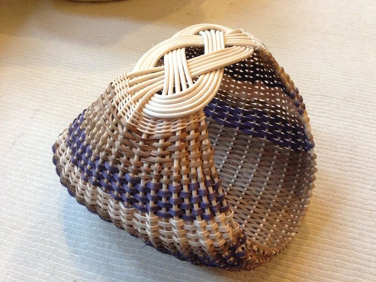 6 Josephine knot ribbed basket (Sandy Bulgrin class, woven by Valentina Hall)