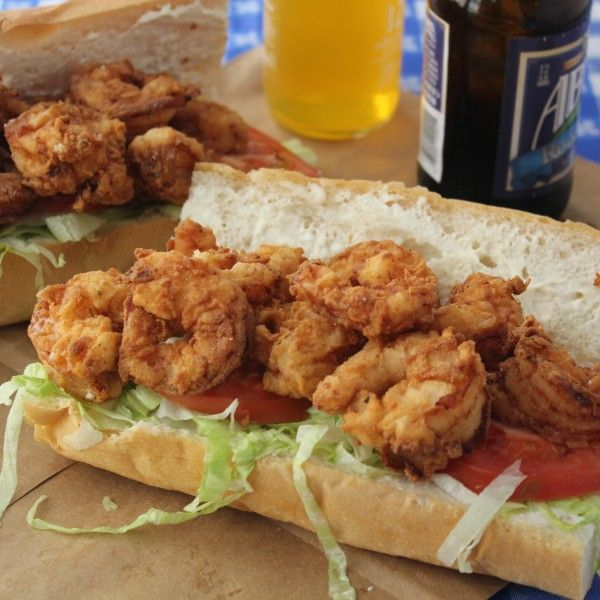 Give this Fried Shrimp Po-Boy a try in honor of Jazz Fest!