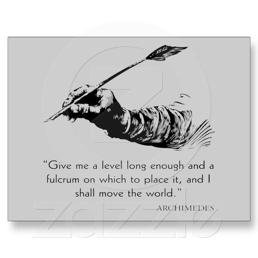 Archimedes Quote - Move The World Quotes Sayings Postcard